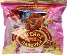 Характеристрики и размер товара Палочки кукурузные сладкие с подарком для девочек Царские м/у 50г