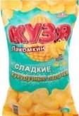 Характеристрики и размер товара Палочки кукурузные сладкие Кузя Лакомкин м/у 140г
