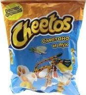 Характеристрики и размер товара Палочки кукурузные Сметана и лук Cheetos м/у 55г
