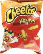 Характеристрики и размер товара Палочки кукурузные Кетчуп Cheetos м/у 55г