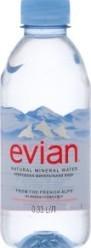 Характеристрики и размер товара Вода минеральная Evian Natural Mineral негазированная, 330 мл