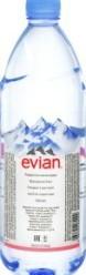 Характеристрики и размер товара Вода минеральная Evian Natural Mineral негазированная, 1 л