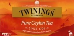 Характеристрики и размер товара Чай Twinings of London Pure Ceylon Tea 25пак, упак