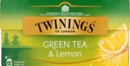 Характеристрики и размер товара Чай Twinings of London зеленый с ароматом лимона 25пак, упак