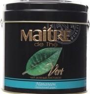 Характеристрики и размер товара Чай Maitre Наполеон листовой зеленый ж/б, 100 г