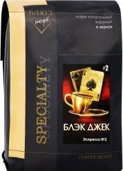 Характеристрики и размер товара Кофе Coffee Blues Эспрессо Блэк Джек зерновой 1кг