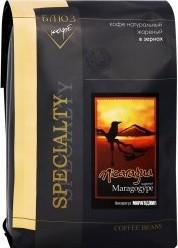 Характеристрики и размер товара Кофе Coffee Blues Марагоджип Никарагуа зерновой 1кг