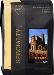 Характеристрики и размер товара Кофе Coffee Blues Эфиопия Мокко Сидамо зерновой 1кг