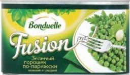 Характеристрики и размер товара Консервированный горошек Bonduelle Fusion зеленый по-парижски, 400 г