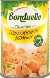 Характеристрики и размер товара Грибы консервированные Bonduelle Classique Шампиньоны резаные, 400 г