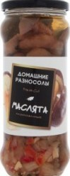 Характеристрики и размер товара Консервированные грибы Домашние разносолы Маслята маринованные, 530 г