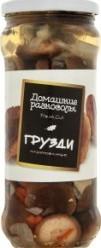 Характеристрики и размер товара Грибы консервированные Домашние разносолы Грузди маринованные, 530 г