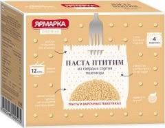 Характеристрики и размер товара Паста Птитим Ярмарка Отборная в варочных пакетиках 4шт*62,5г