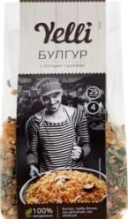 Характеристрики и размер товара Булгур с белыми грибами Yelli м/у 250г