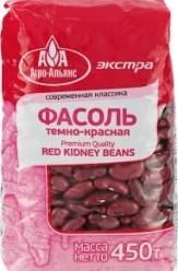 Характеристрики и размер товара Фасоль Агро-Альянс темно-красная, 450 г