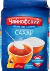 Характеристрики и размер товара Сахар Чайкофский для чая кофе и выпечки, 900 г