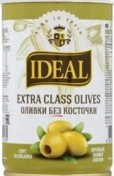 Характеристрики и размер товара Оливки Ideal Extra Class без косточки, 300 г