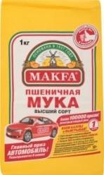 Характеристрики и размер товара Мука пшеничная в/с Makfa м/у 1кг