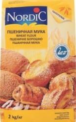 Характеристрики и размер товара Мука пшеничная Nordic м/у 2кг
