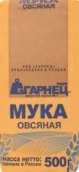 Характеристрики и размер товара Мука Гарнец овсяная, 500 г