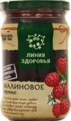 Характеристрики и размер товара Варенье Линия здоровья Малиновое, 360 г