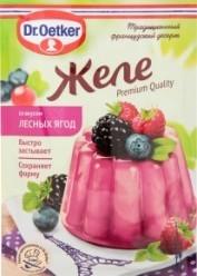 Характеристрики и размер товара Сухая смесь Dr.Oetker Желе со вкусом лесных ягод, 45 г