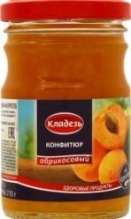 Характеристрики и размер товара Конфитюр Кладезь абрикосовый на фруктозе, 210 г