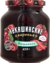 Характеристрики и размер товара Варенье Лукашинские варенья Вишневое домашнее без косточки, 450 г
