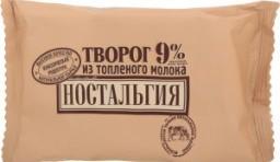 Характеристрики и размер товара Творог Ностальгия из топленого молока 9%, 180 г