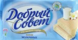 Характеристрики и размер товара Вафли молочные на фруктозе Добрый Совет м/у 73г