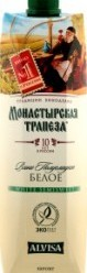 Характеристрики и размер товара Вино 1л 10-12% белое полусладкое Монастырская Трапеза т/п