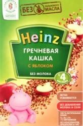 Характеристрики и размер товара Каша для детей Heinz Гречневая кашка с яблоком без молока от 4 месяцев, 200 г