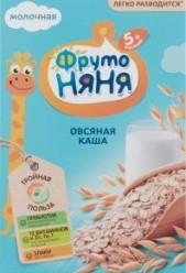 Характеристрики и размер товара Каша для детей ФрутоНяня молочная овсяная от 5 месяцев, 200 г