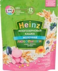 Характеристрики и размер товара Каша для детей Heinz Любопышки молочная многозерновая слива абрикос черника от 12 месяцев, 200 г