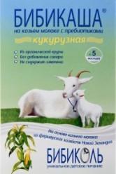 Характеристрики и размер товара Каша для детей Бибикаша кукурузная на козьем молоке от 5 месяцев, 200 г