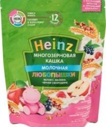 Характеристрики и размер товара Каша для детей Heinz Любопышки молочная многозерновая яблоко-малина-черная смородина от 12 месяцев, 200 г
