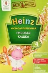 Характеристрики и размер товара Каша для детей Heinz безмолочная рисовая низкоаллергенная от 4 месяцев, 160 г