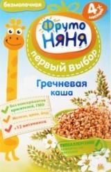 Характеристрики и размер товара Каша для детей ФрутоНяня Первый выбор гречневая от 4 месяцев, 200 г