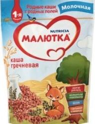Характеристрики и размер товара Каша для детей Nutricia Малютка гречневая молочная от 4 месяцев, 220 г