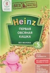 Характеристрики и размер товара Каша для детей Heinz Первая овсяная без молока от 5 месяцев, 180 г