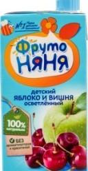 Характеристрики и размер товара Нектар для детей от 3лет Яблоко и вишня ФрутоНяня т/п 0.5л