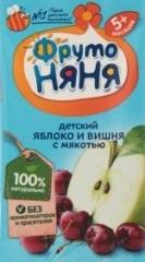 Характеристрики и размер товара Нектар для детей от 5мес Яблоко и вишня ФрутоНяня т/п 0.2л