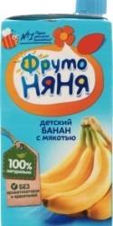 Характеристрики и размер товара Нектар для детей от 3лет Банан ФрутоНяня т/п 0.5л