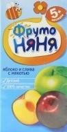 Характеристрики и размер товара Нектар для детей от 5мес Яблоко и слива ФрутоНяня т/п 0.2л
