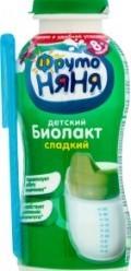Характеристрики и размер товара Биолакт для детей ФрутоНяня сладкий от 8 месяцев 3.2%, 200 г