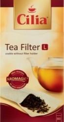 Характеристрики и размер товара Фильтр для заварки Cilia бумажный для чая размер L 80шт, упак