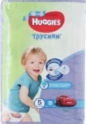 Характеристрики и размер товара Подгузники-трусики для детей Huggies Мальчикам 5 13-17 кг 15шт, упак