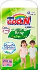 Характеристрики и размер товара Подгузники-трусики Goon Cheerful Baby L 8-14кг 48шт