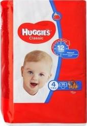 Характеристрики и размер товара Подгузники Huggies Classic 4 (7-18кг), 14 шт