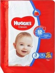 Характеристрики и размер товара Подгузники Huggies Classic 3 (4-9кг), 16 шт